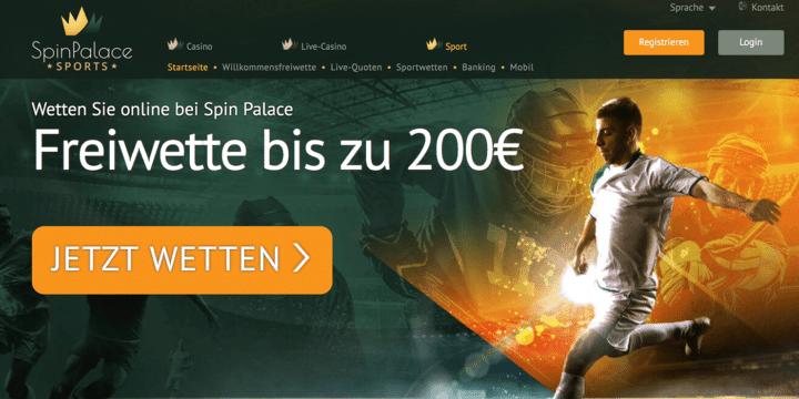 Spin Palace Sports Bonus