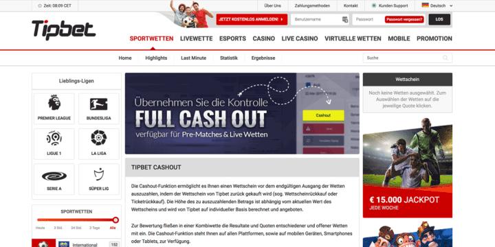 Tipbet Cash-out