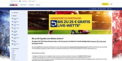 Sky Bet - Eine Live-Gratiswette für Hannover gegen Dortmund sichern