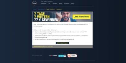 Btty - 7 Tage 7 Wetten 77€gewinnen